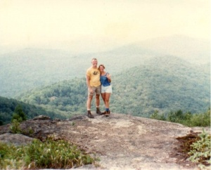 Marge and me on top of a mountain in the Adirondacks