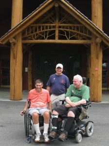Steve with Andy and me at Blue Mountain Museum