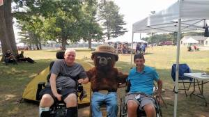 With Smokey the Bear at Ft. Drum