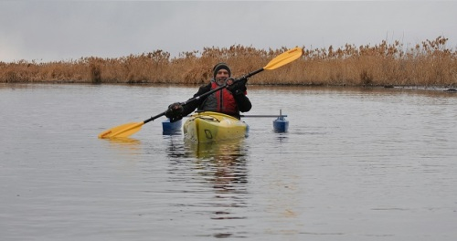 Andy Kayaking Thanksgiving Day 2018